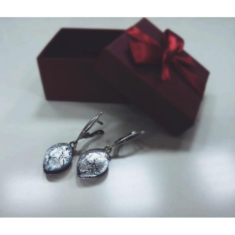 Silver Leaves Earrings