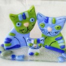 """Master-class """"Cats on a stand"""" in the technique of fusing"""