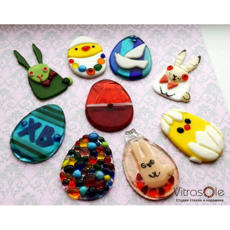 """Master class """"Easter souvenir"""" in the technique of fusing"""