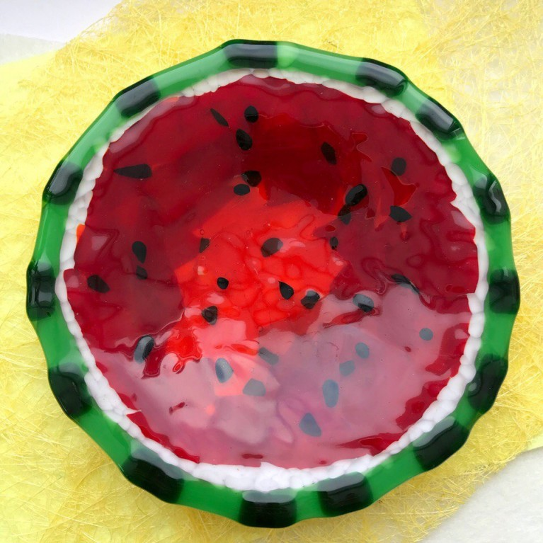 "Master-class ""Plate Watermelon"" in the technique of fusing"