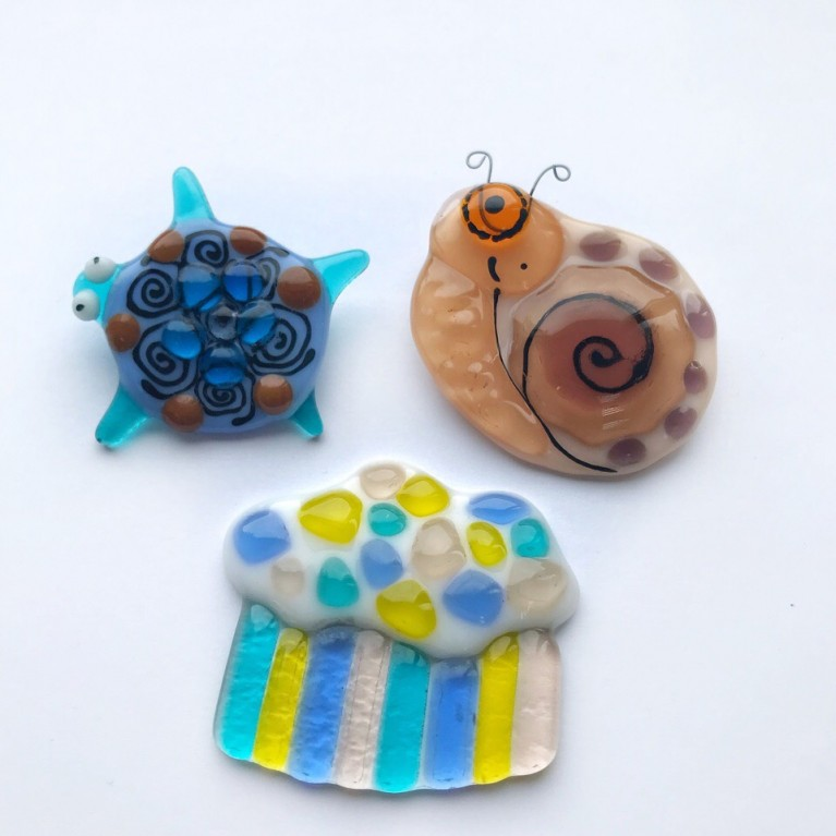 "Master class ""Brooch"" for children in fusing technique"