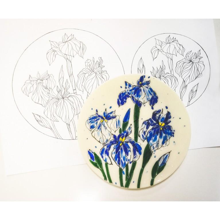 "Plate ""Irises"""